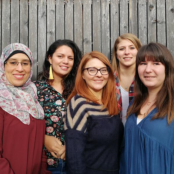 Assia, Océane, Ilaria, Chloé, Ariane